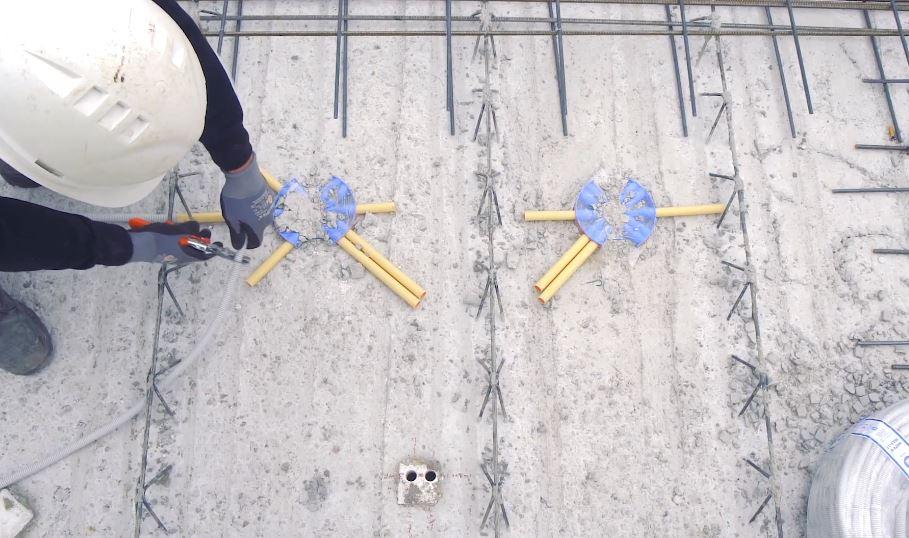Kabelverlegung auf Baustelle