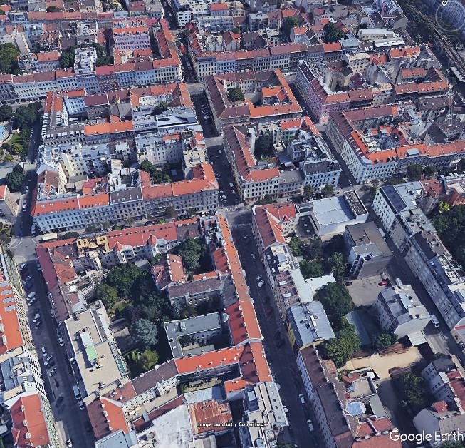 Google Earth Luftbild des Testgebiets