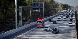 scania elektrifizierte Straßen a3bau