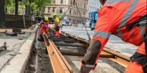 Gleisbauarbeiten Wiener Linien