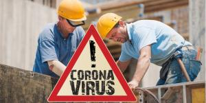 Coronavirus Baustelle