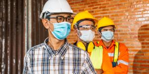 Schutzmasken Baustelle