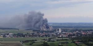 Zementwerk mannersdorf Brand