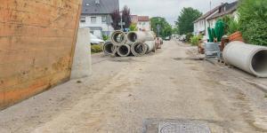 Baustelle Austausch von Kanalrohren