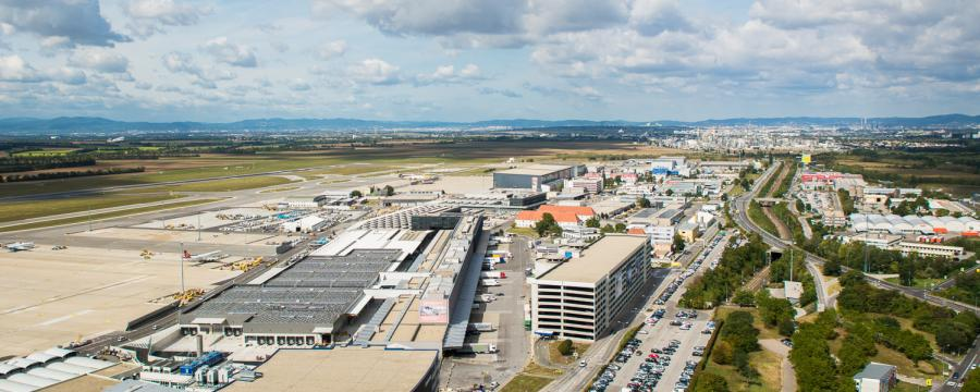 Flughafen Luftaufnahme