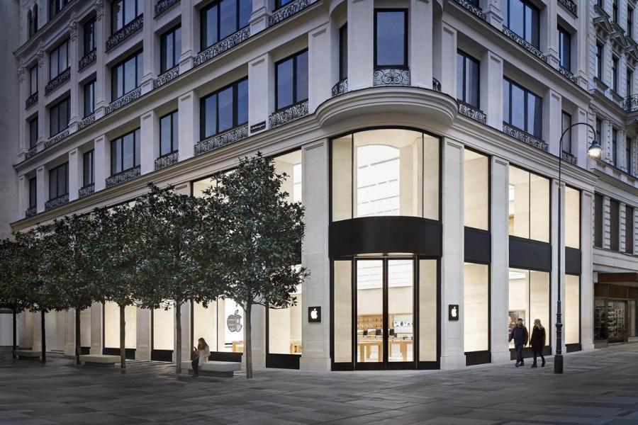 Achitektur Apple Store Wien