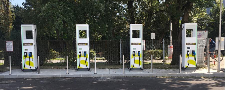 Zapfsäulen für erneuerbare Energie