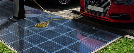 Platio Solarstrom Bodenplatten