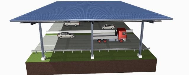 Photovoltaik-Überdachung auf Autobahnen