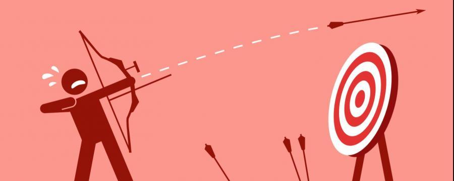 Zielscheibe Pfeil und Bogen