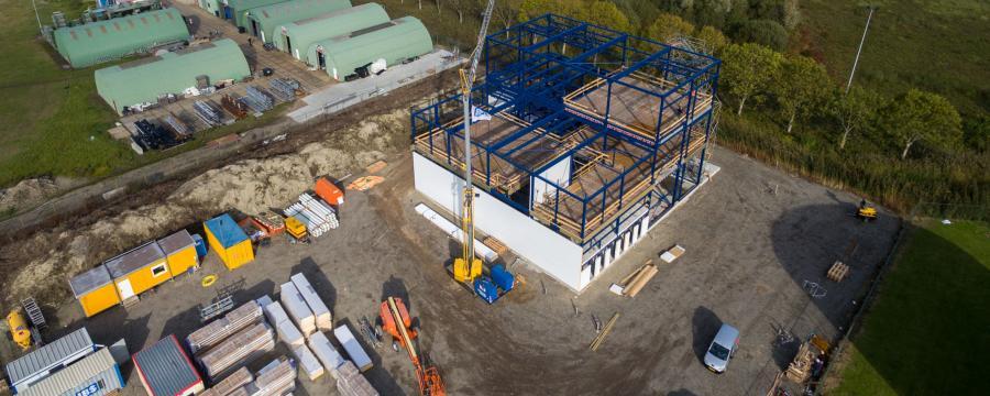 Bau einer Recyclinganlage