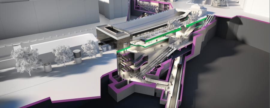 Rendering der U-Bahnstation Pilgramgasse