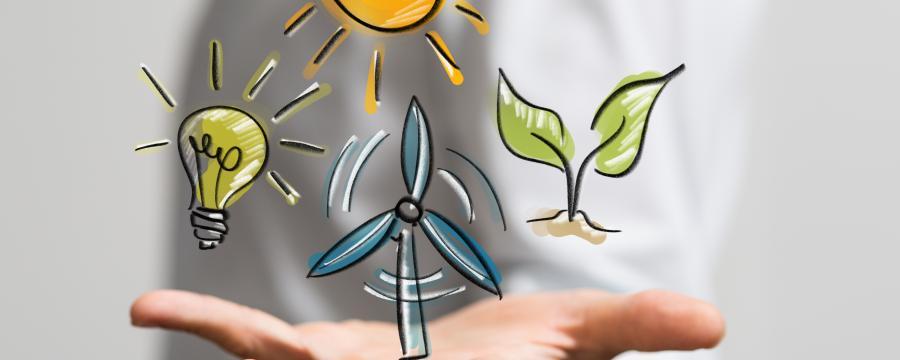 Erneuerbare Energie Symbole