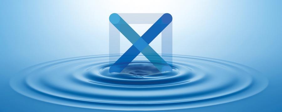 Ein X im Wasser