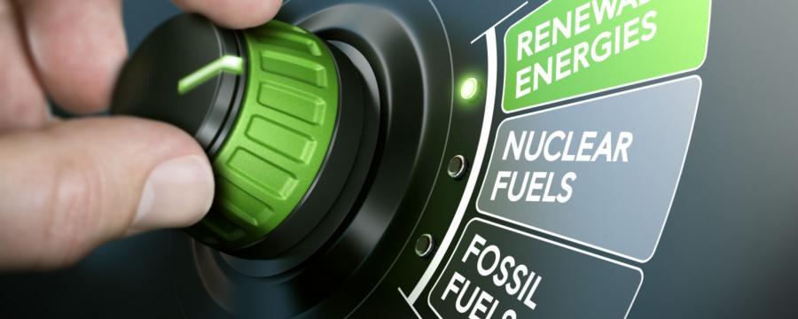 Regler, der auf erneuerbare Energien umspringt