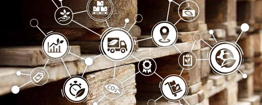 Palette mit Digitalisierungsicons