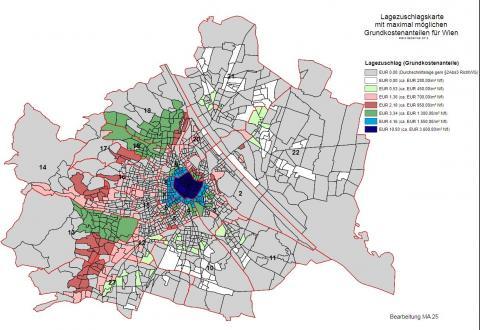 Lagezuschlagskarte Wien Altbau