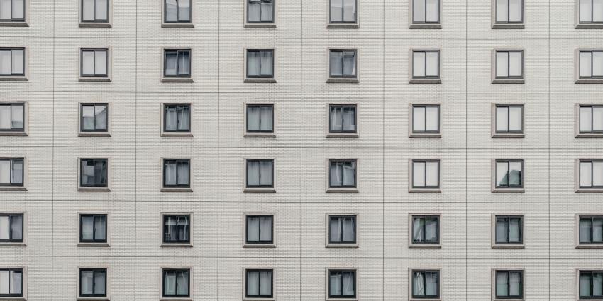 Blick auf viele Wohnungen