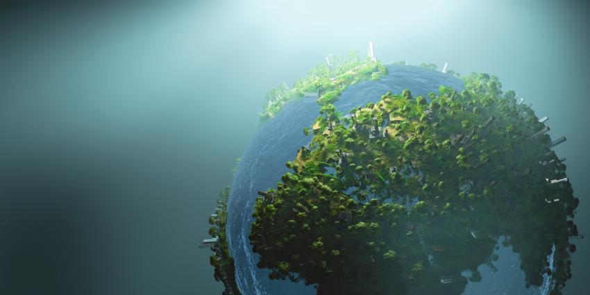 Globus als grüner Planet