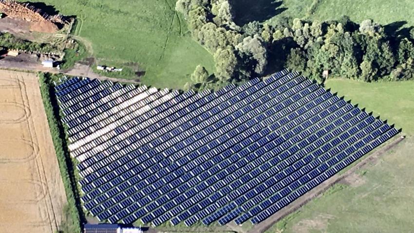 Solarpaneele von oben