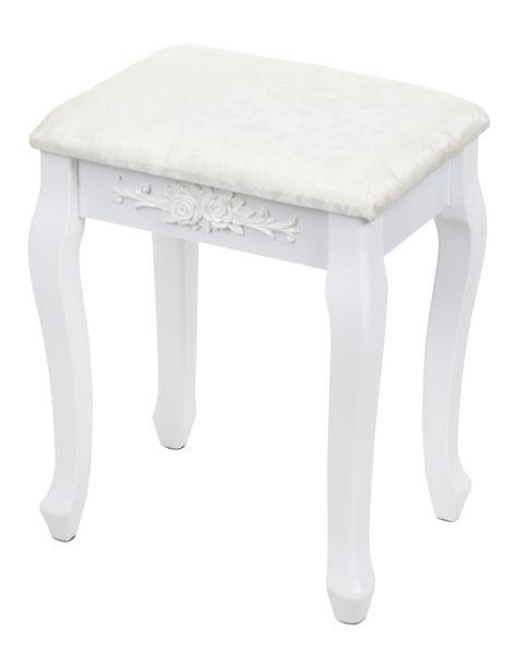 Toaletka kosmetyczna biała z lustrem + taboret,model DTW003 zdjęcie 3