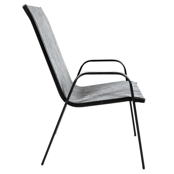 Krzesło stalowe ogrodowe tarasowe Polo Melange zdjęcie 3