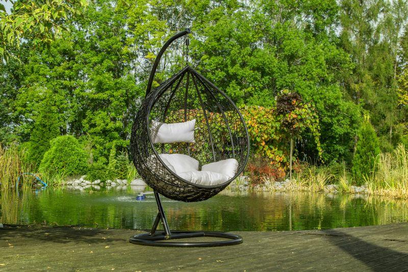 Fotel Wiszący Lido Poduszki Kosz Huśtawka Rattan zdjęcie 4