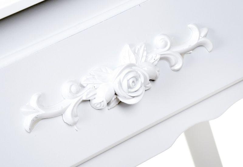 Toaletka kosmetyczna biała z lustrem + taboret,model DTW003 zdjęcie 2