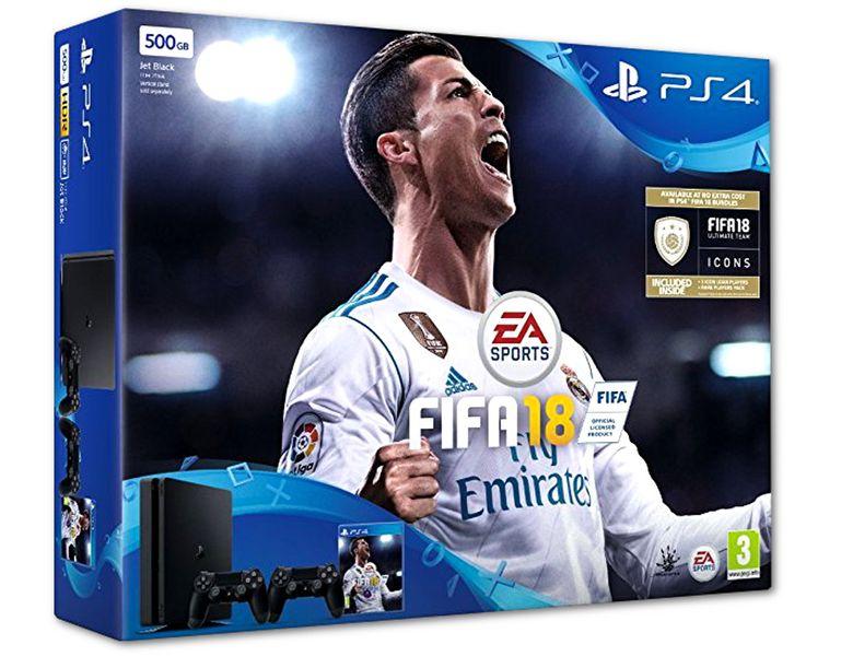 Konsola SONY PlayStation 4 SLIM 500GB + FIFA18 + 2 PADY zdjęcie 1