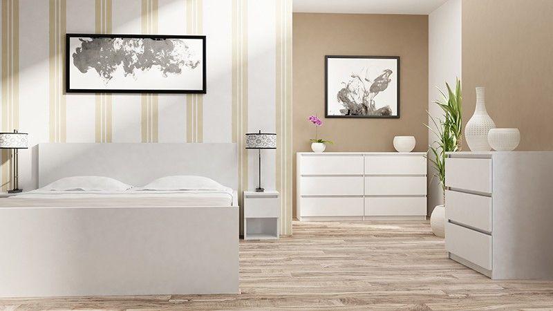 Komoda szafka 3 szuflady kolor biały zdjęcie 3