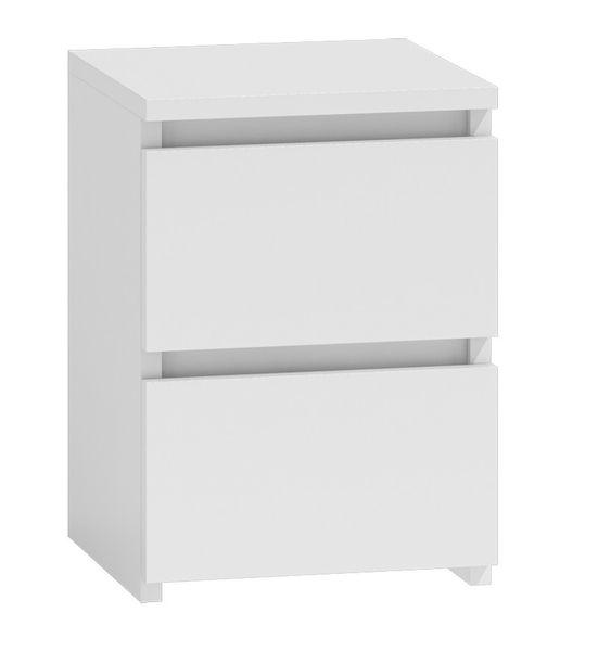 Szafka komoda stolik nocny 2 szuflady  m2 biała zdjęcie 1