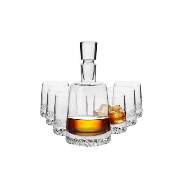 KROSNO Fiord - Zestaw komplet do whisky z karafką / 6 osób zdjęcie 1