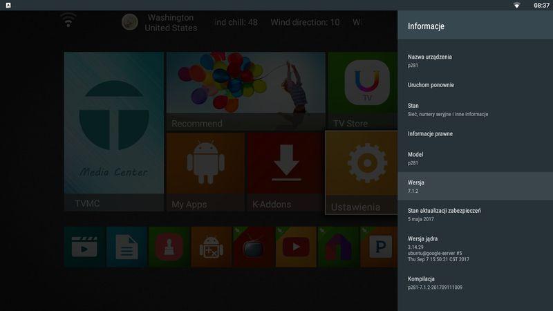 Android TV Box MXQ Pro 4K 64BIT  7.1 smart tv zdjęcie 4