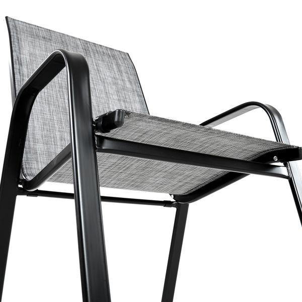 Krzesło stalowe ogrodowe tarasowe Polo Melange zdjęcie 4