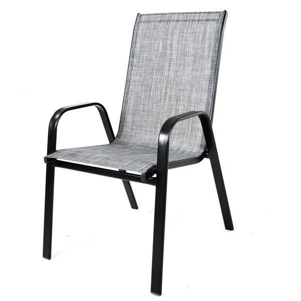Krzesło stalowe ogrodowe tarasowe Polo Melange zdjęcie 1