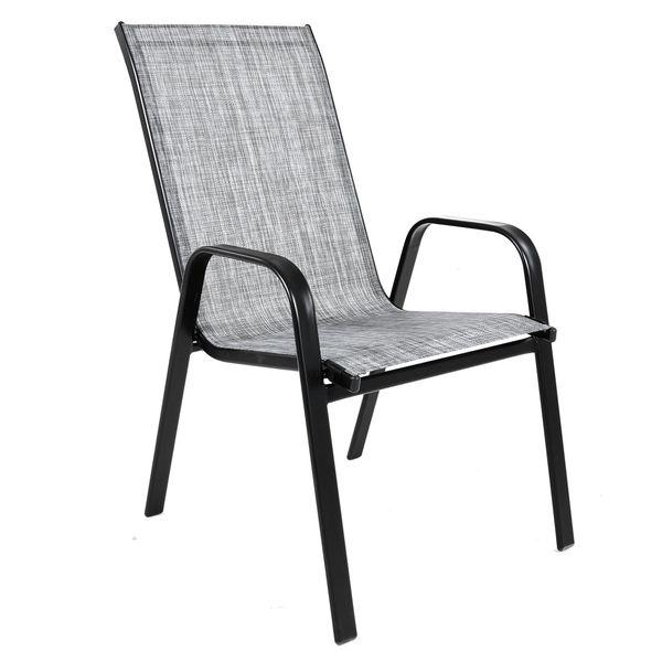 Krzesło stalowe ogrodowe tarasowe Polo Melange zdjęcie 2