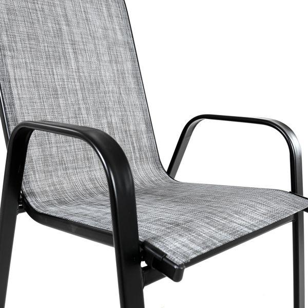Krzesło stalowe ogrodowe tarasowe Polo Melange zdjęcie 5