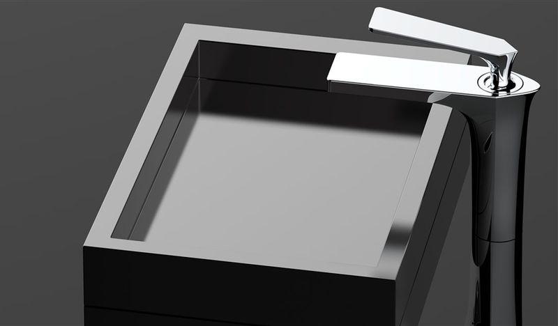 Bateria łazienkowa umywalkowa wysoka REA AXEL CHROM chromowana zdjęcie 2
