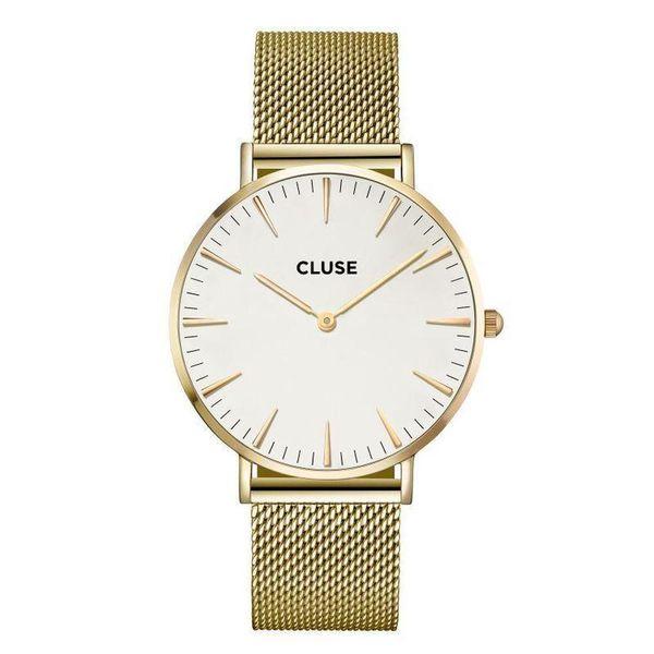 watch2love CLUSE LA BOHEME MESH GOLD WHITE CL18109 FVAT GWARANCJA 24 zdjęcie 1