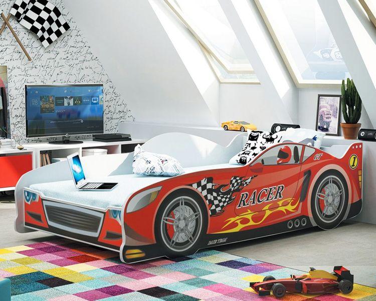 Łóżko AUTO dla dzieci CARS 160x80 + STELAŻ GRATIS zdjęcie 6