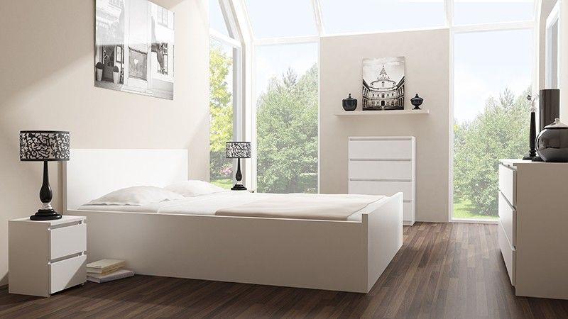 Komoda szafka 3 szuflady kolor biały zdjęcie 2