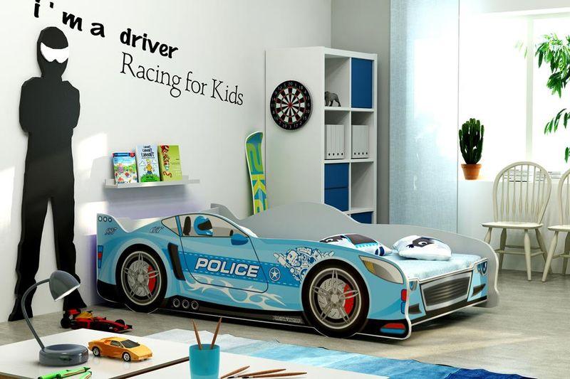 Łóżko AUTO dla dzieci CARS 160x80 + STELAŻ GRATIS zdjęcie 1