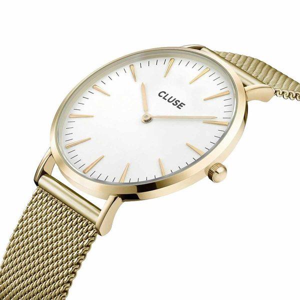 watch2love CLUSE LA BOHEME MESH GOLD WHITE CL18109 FVAT GWARANCJA 24 zdjęcie 3