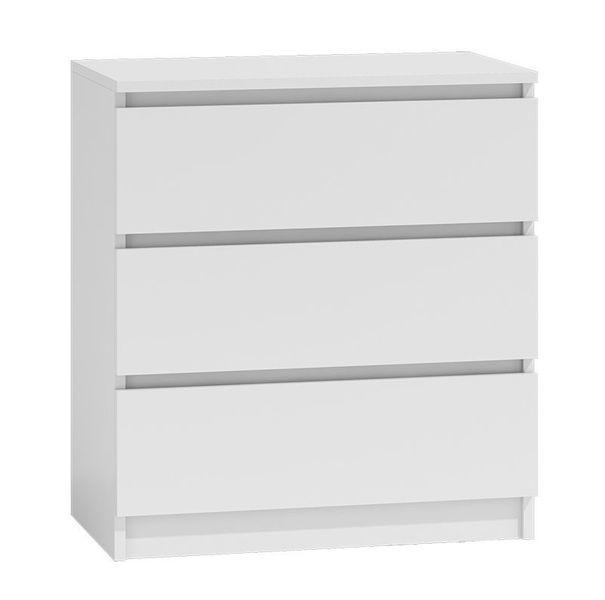 Komoda szafka 3 szuflady kolor biały zdjęcie 1