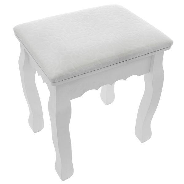Toaletka Kosmetyczna Biała NANCY + lustro + taboret zdjęcie 8