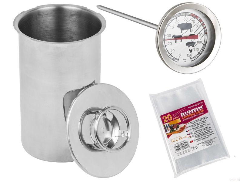 Szynkowar Termometr Worki Zestaw Biowin Stal PROMO zdjęcie 1