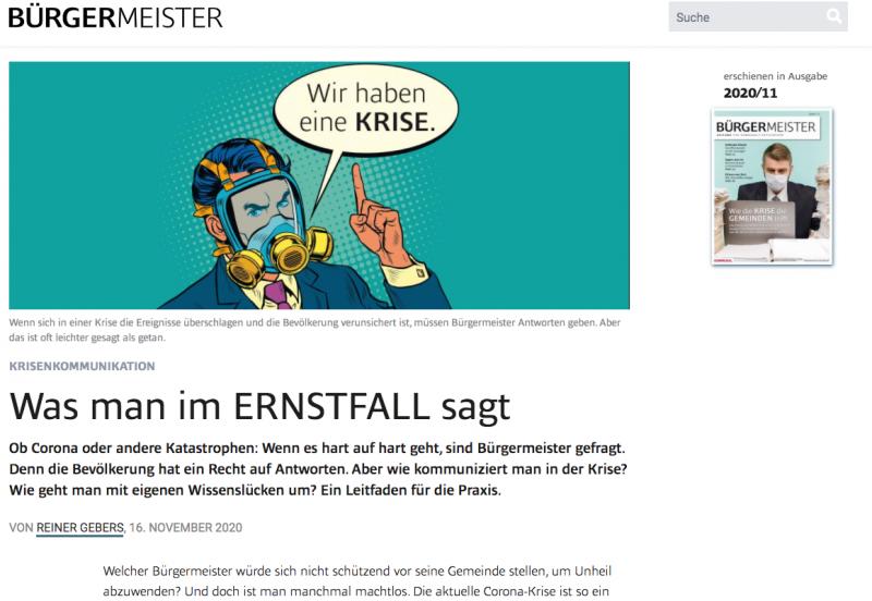 Mehr zur Bürgermeister-Zeitung im Internet.