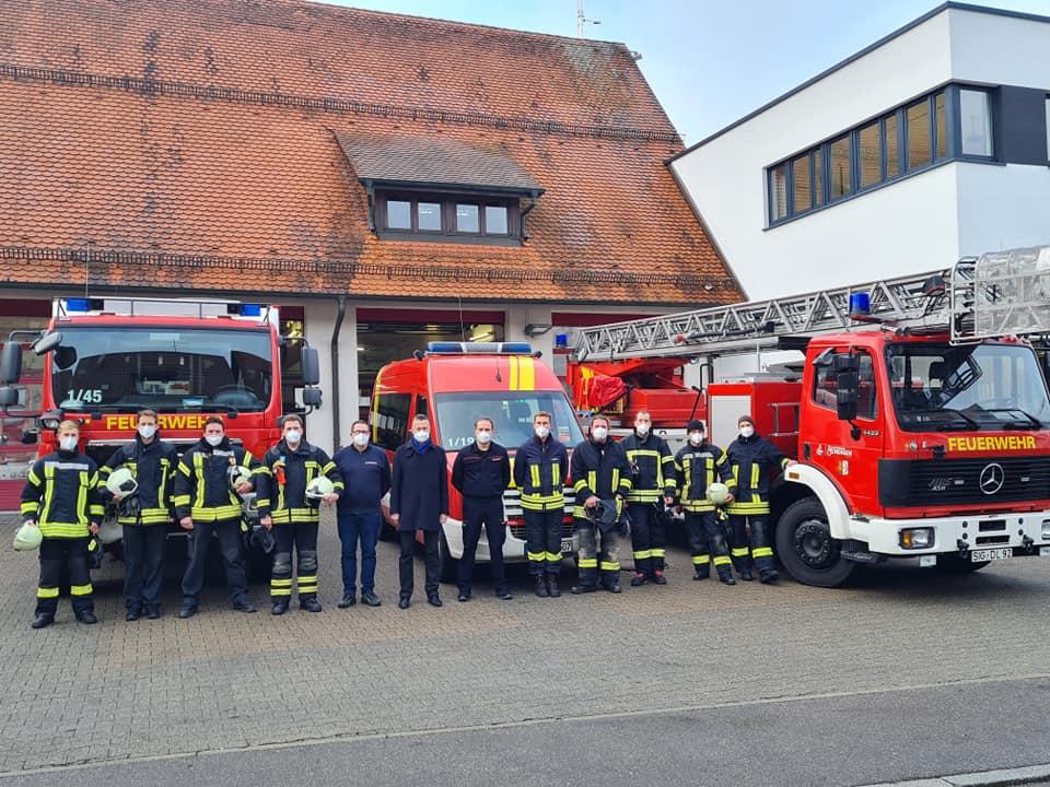 Die Freiwillige Feuerwehr Mengen machte sich am Tag nach dem Erdbeben auf den Weg nach Petrinja. (c)Freiwillige Feuerwehr Mengen