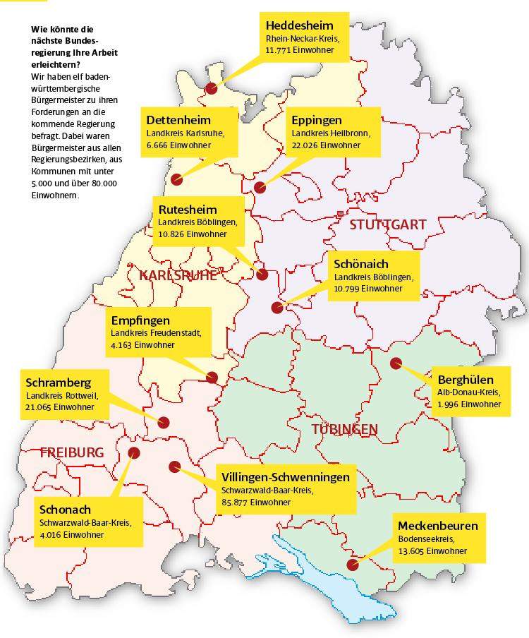 Diese Bürgermeister haben bei unserer Umfrage zur Bundestagswahl teilgenommen