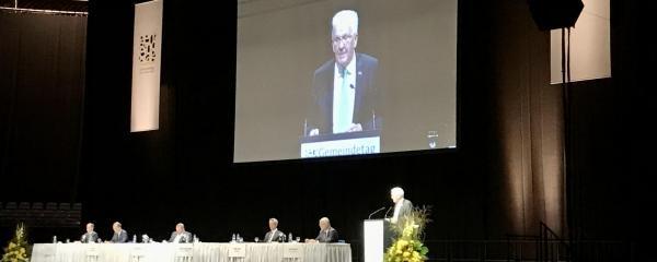 Winfried Kretschmann auf der Mitgliederversammlung des Gemeindetags Baden-Württemberg
